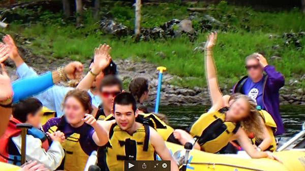 Jon whitewater rafting