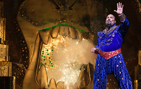 James Monroe Iglehart as the Genie