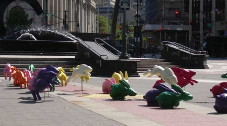 animating Playdoh bunnies in New York City