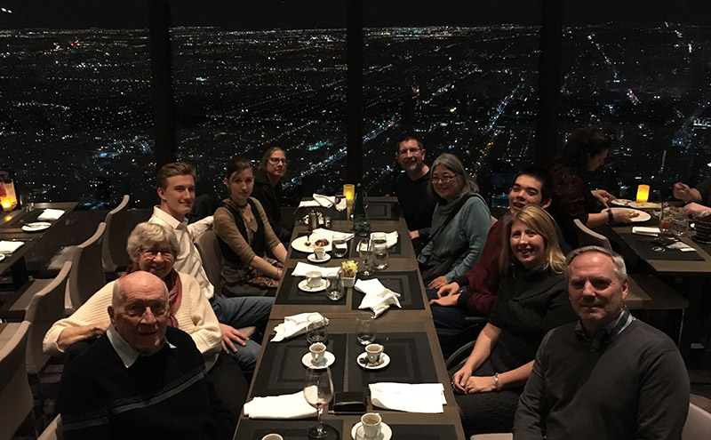 Family at 360&#deg; restaurant at CN Tower