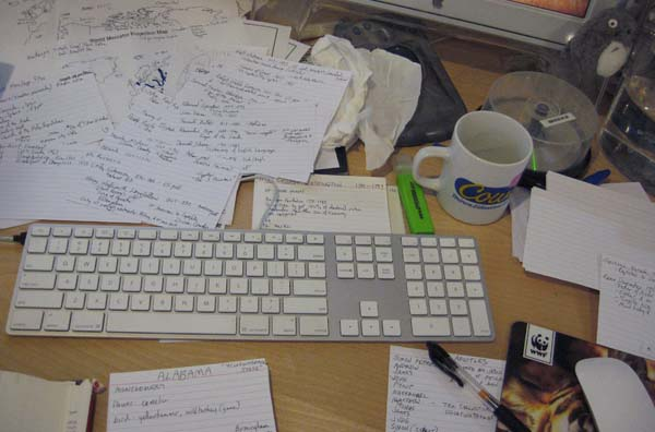 Another view of messy desk