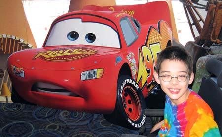 Jon and Lightning McQueen
