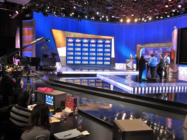 The current Jeopardy! set