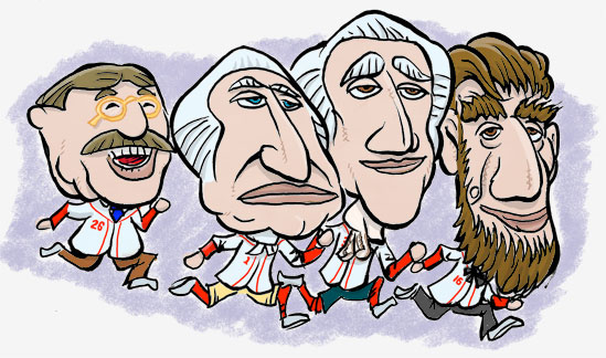 cartoon of washington nationals mascot presidents